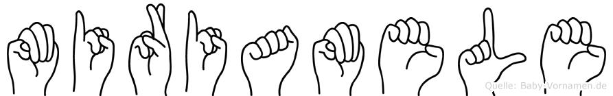 Miriamele im Fingeralphabet der Deutschen Gebärdensprache