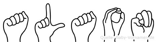 Alaon im Fingeralphabet der Deutschen Gebärdensprache