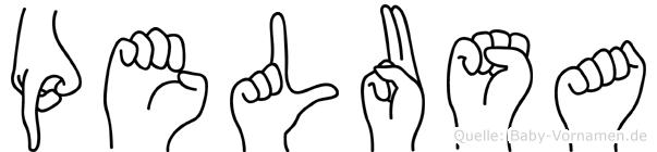 Pelusa in Fingersprache für Gehörlose