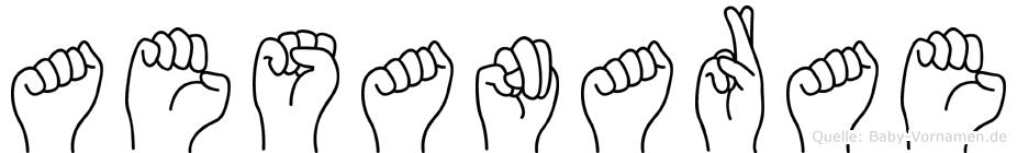 Aesanarae im Fingeralphabet der Deutschen Gebärdensprache