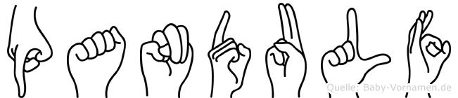 Pandulf im Fingeralphabet der Deutschen Gebärdensprache