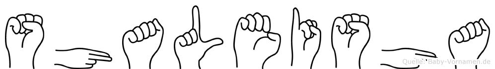 Shaleisha in Fingersprache für Gehörlose