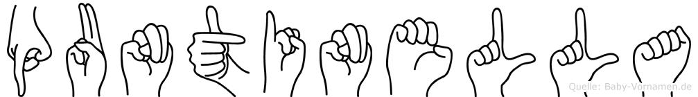 Puntinella im Fingeralphabet der Deutschen Gebärdensprache