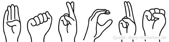 Barcus im Fingeralphabet der Deutschen Gebärdensprache