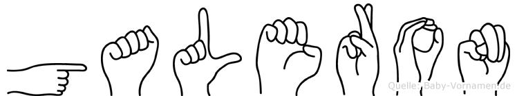 Galeron in Fingersprache für Gehörlose
