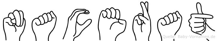 Nacerat im Fingeralphabet der Deutschen Gebärdensprache