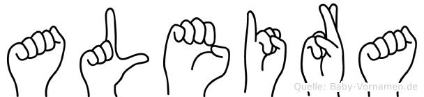 Aleira in Fingersprache für Gehörlose