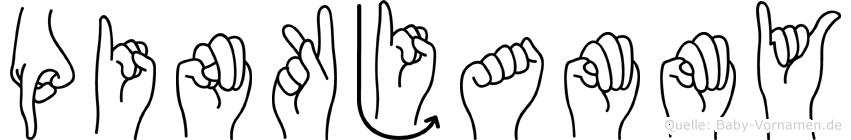 Pinkjammy in Fingersprache für Gehörlose