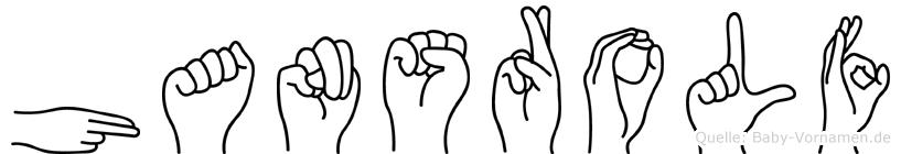 Hansrolf in Fingersprache für Gehörlose