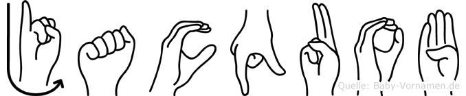 Jacquob im Fingeralphabet der Deutschen Gebärdensprache