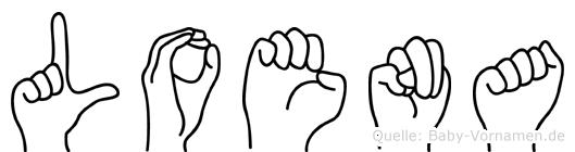 Loena im Fingeralphabet der Deutschen Gebärdensprache