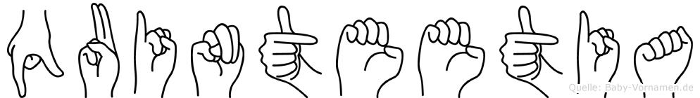 Quinteetia in Fingersprache für Gehörlose