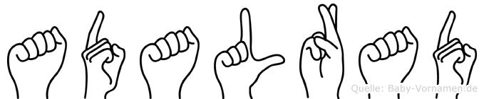 Adalrad in Fingersprache für Gehörlose