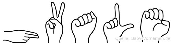 Hvale in Fingersprache für Gehörlose
