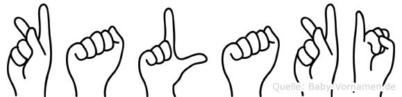 Kalaki in Fingersprache für Gehörlose