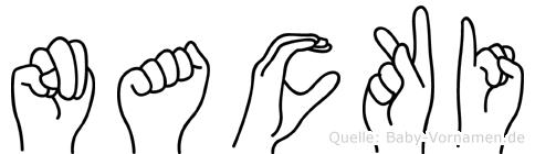 Nacki in Fingersprache für Gehörlose