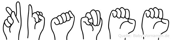 Kianee im Fingeralphabet der Deutschen Gebärdensprache