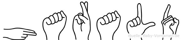 Harald in Fingersprache für Gehörlose