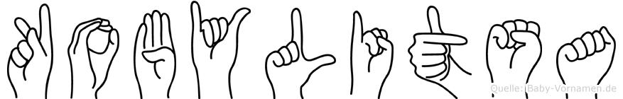 Kobylitsa im Fingeralphabet der Deutschen Gebärdensprache