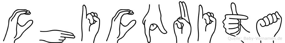 Chicquita in Fingersprache für Gehörlose