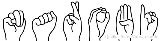 Narobi im Fingeralphabet der Deutschen Gebärdensprache