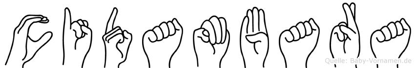 Cidambara im Fingeralphabet der Deutschen Gebärdensprache