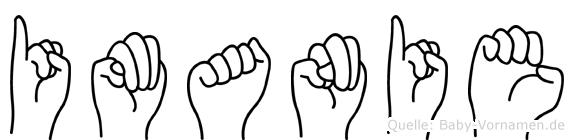 Imanie in Fingersprache für Gehörlose