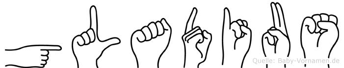 Gladius im Fingeralphabet der Deutschen Gebärdensprache