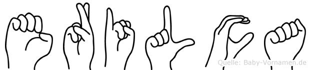 Erilca im Fingeralphabet der Deutschen Gebärdensprache