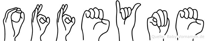 Offeyme in Fingersprache für Gehörlose