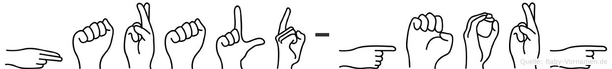 Harald-Georg im Fingeralphabet der Deutschen Gebärdensprache