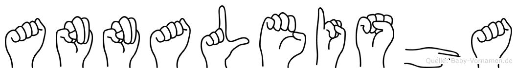 Annaleisha im Fingeralphabet der Deutschen Gebärdensprache