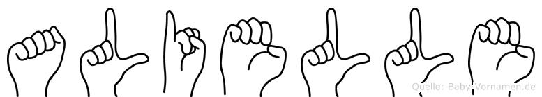 Alielle in Fingersprache für Gehörlose