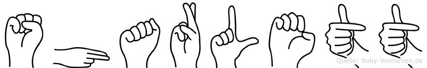 Sharlett in Fingersprache für Gehörlose