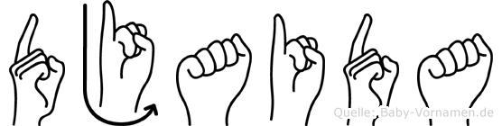 Djaida in Fingersprache für Gehörlose
