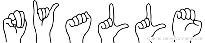 Nyalle in Fingersprache für Gehörlose