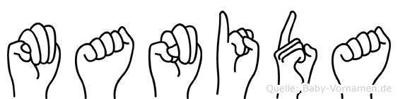 Manida in Fingersprache für Gehörlose