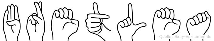 Bretlea in Fingersprache für Gehörlose