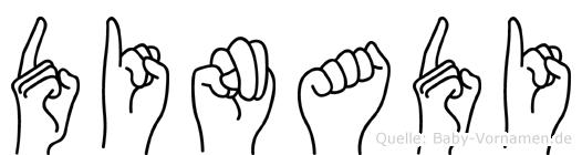 Dinadi im Fingeralphabet der Deutschen Gebärdensprache