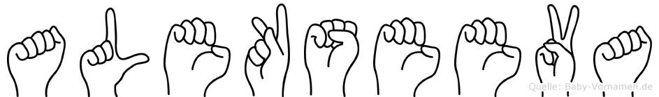 Alekseeva in Fingersprache für Gehörlose
