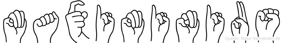 Maximinius in Fingersprache für Gehörlose