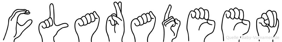 Claradeen in Fingersprache für Gehörlose