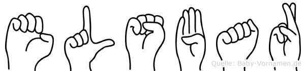 Elsbar im Fingeralphabet der Deutschen Gebärdensprache