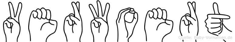 Verwoert im Fingeralphabet der Deutschen Gebärdensprache