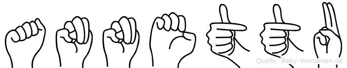 Annettu im Fingeralphabet der Deutschen Gebärdensprache