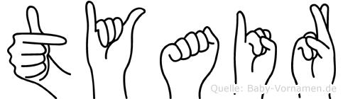 Tyair in Fingersprache für Gehörlose