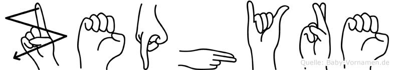 Zephyre im Fingeralphabet der Deutschen Gebärdensprache