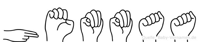 Hemmaa im Fingeralphabet der Deutschen Gebärdensprache