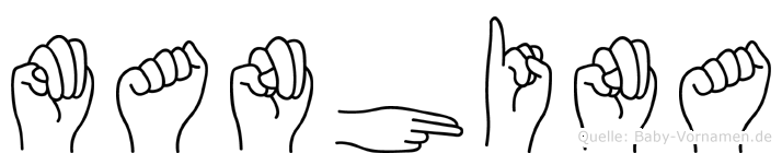 Manhina in Fingersprache für Gehörlose