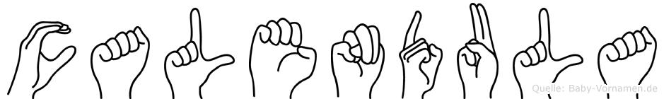 Calendula in Fingersprache für Gehörlose